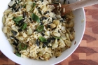 Fennel, Chiles, and Mint with Orzo