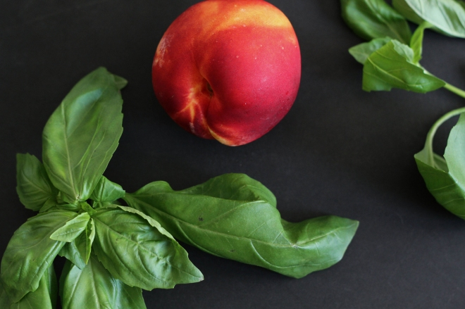 nectarine and basil