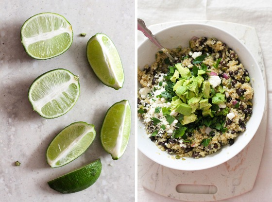 Spicy Black Bean and Quinoa Salad | Lattes & Leggings