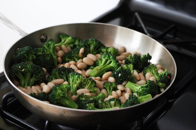 broccoli and white beans