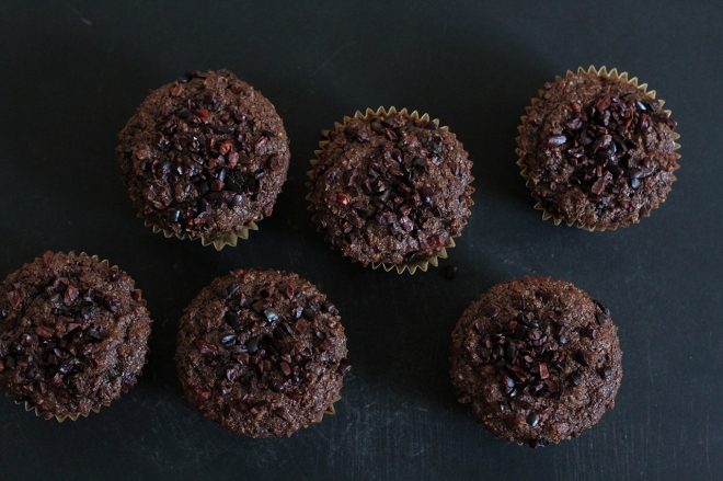 Chocolate Cacao Nib Muffins | Lattes & Leggings