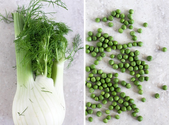 fennel and fresh peas