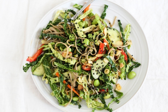 Soba Noodle Vegetable Salad | Lattes & Leggings